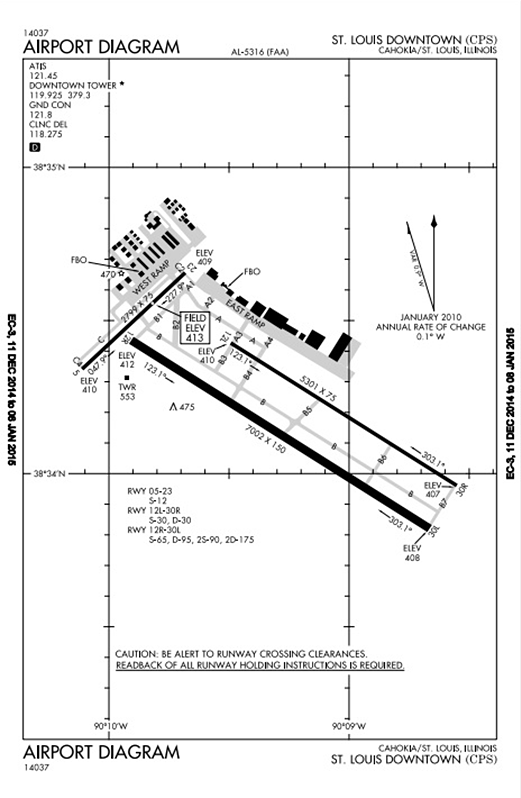 St. Louis Downtown Airport Diagram 2015
