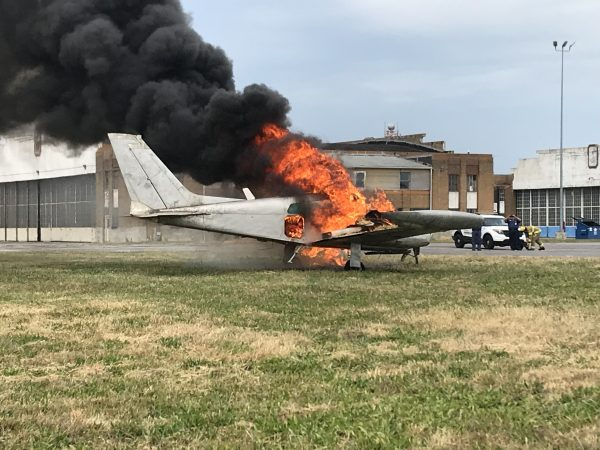 Burning Plane During Exercise